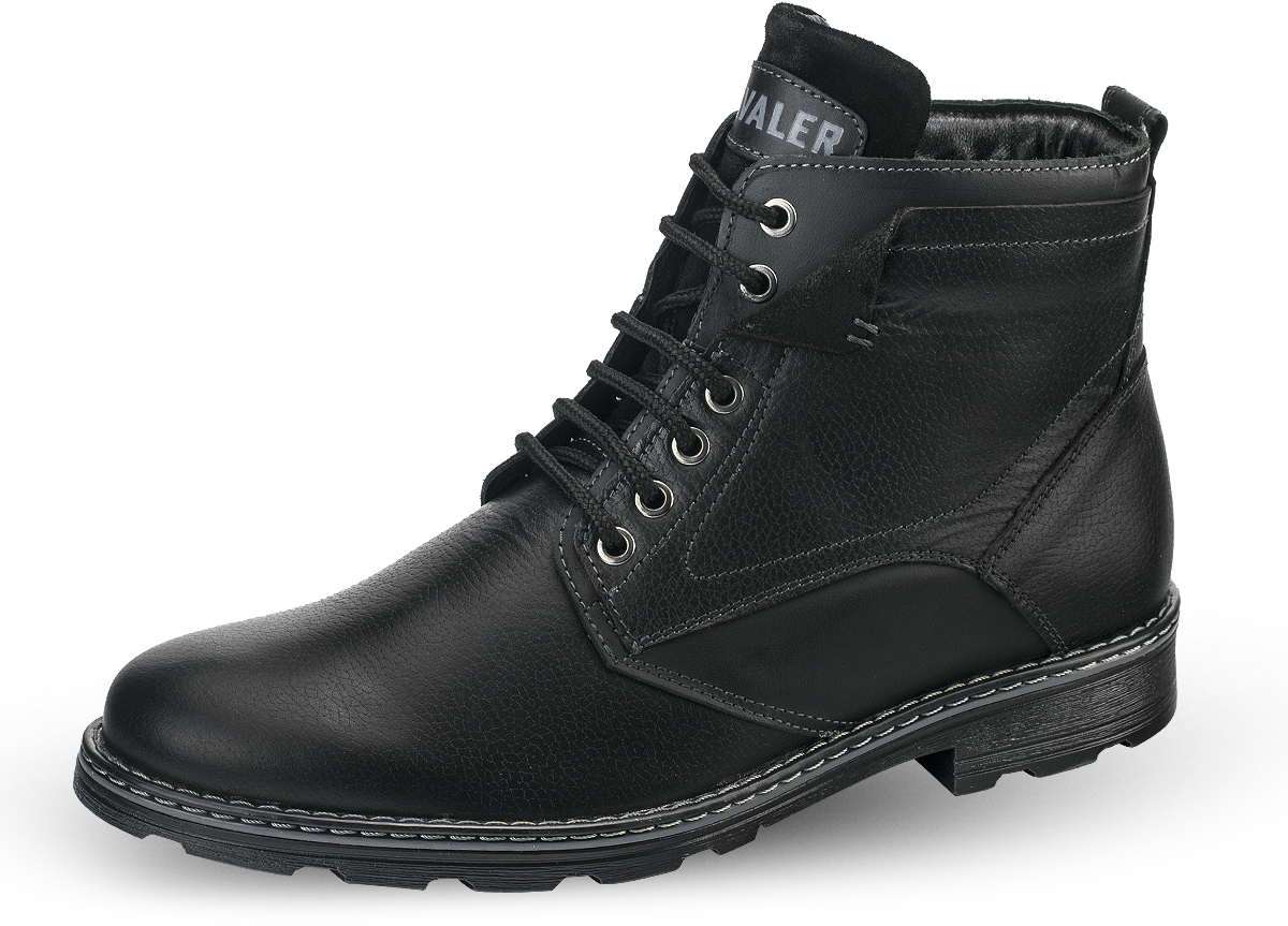 Male boots in black - Men's leather