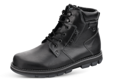 Male boots with zipper in black photo