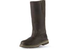 Male hunting boots in brown photo